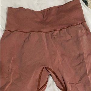 Gymshark pink peach leggings